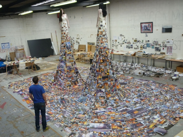 2010_Thomas_Hirschhorn_Eye-to-Eye_Subjecter_studio_view_2010