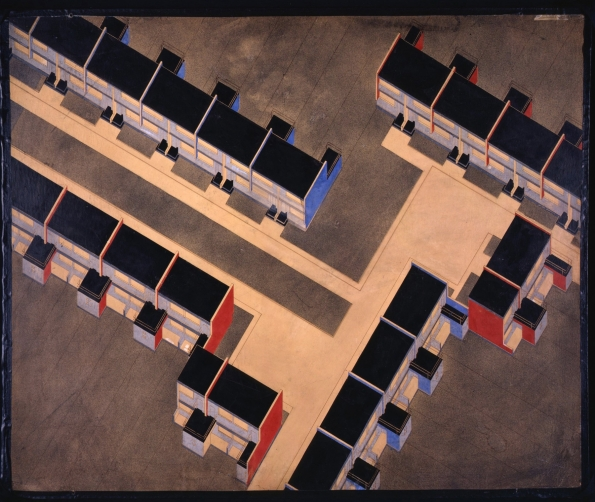 1926-1928_Walter Gropius_Row_houses_isometric_1926-1928