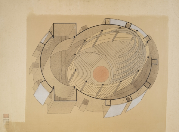 1927_Walter_Gropius_Drawing_by_Stefan_Sebok_Isometric_sectional_view_Total-Theater_Berlin_1927