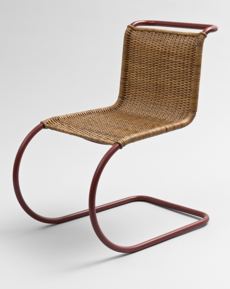 1931_Ludwig_Mies_van_der_Rohe_with_Lilly_Reich_Side_Chair_MR_10_ca._1931