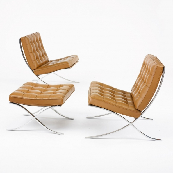 1965_Ludwig_Mies_van_der_Rohe_Barcelona_chairs_Knoll International_ca.1965