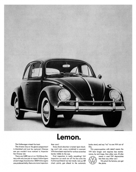 1959_Helmut_Krone_Lemon_VW_ad_1959