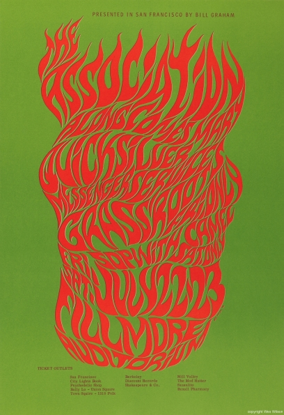 1966_Wes_Wilson_Association_Fillmore_Auditorium_poster_1966