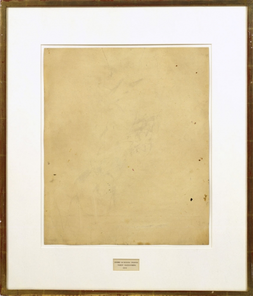 1953_Robert_Rauschenberg_Erased_de_Kooning_drawing_1953