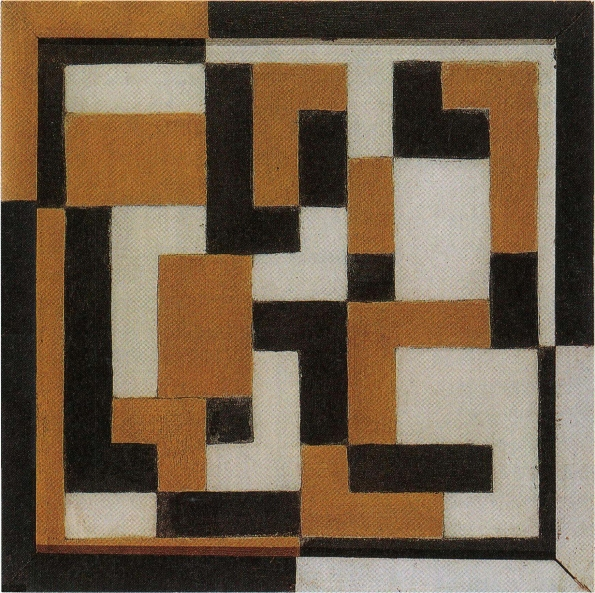 1917_Theo_van_Doesburg_Composition_IX_Oil_study_in_ochre_and_black_1917