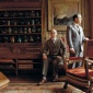 1987_Gilbert_and_George_in_their_London_home_by_Derry_Moore_1987