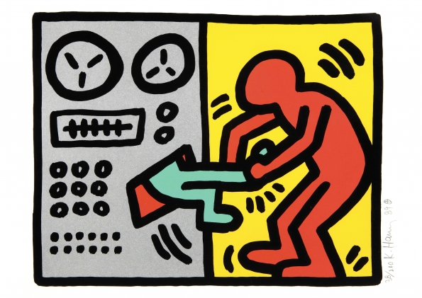 Keith_Haring_Pop_Shop_III_Untitled_plate one_1989