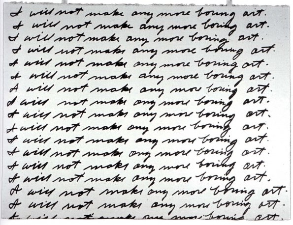 1972_John_Baldessari_I_Will_Not_Make_Boring_Art_1972