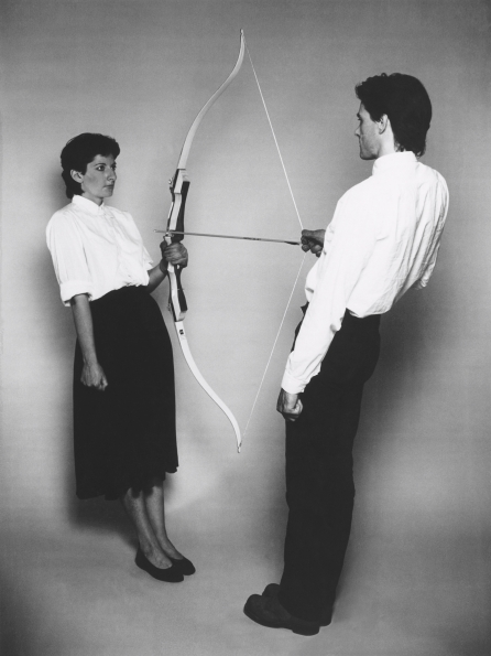 1980_Marina_Abramovic_and_Ulay_Rest_Energy_1980