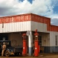 1940_Russell Lee_Filling station and garage at Pie Town_New Mexico_1940