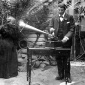 1899_Fanny_Cochrane_Smith_recording_with_Dr_Harold_Watson_1899