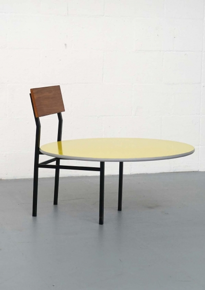 Janina_Frye_Chair_with_tabletop_and_yellow_color_2014