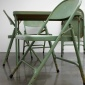 Robert Therrien : No title (Folding table and chairs, green), 2008