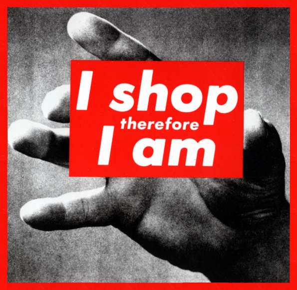1987_Barbara_Kruger_I_shop_therefore_I_am_1987